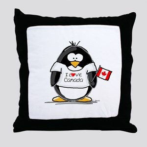 Canada Penguin Throw Pillow